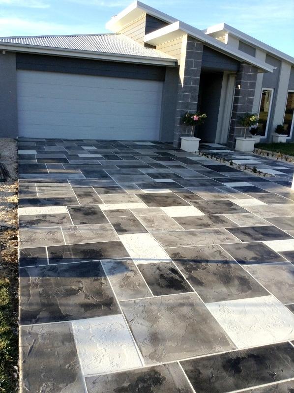 concrete driveway stamped dallas