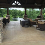 stained concrete patio dallas