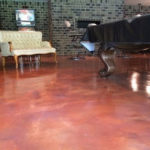 decorative concrete basement