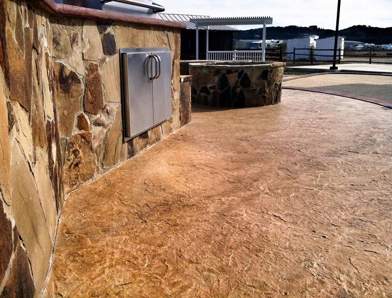 stamped decorative concrete dallas