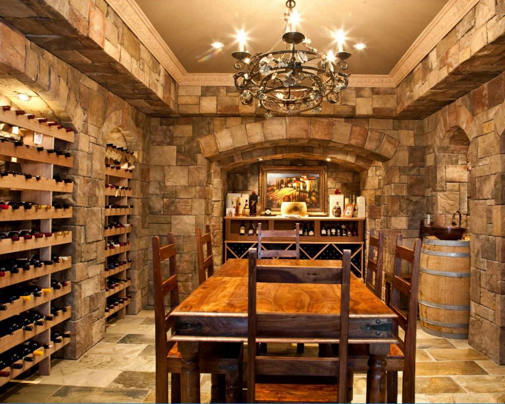 wine storage basement